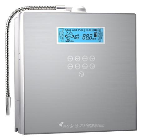 alkaline ionized water from the KYK Genesis Water Ionizer